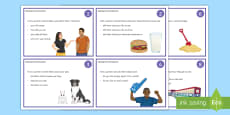 Speaking and Listening Cards Activity