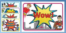 VCOP Superhero Display Posters