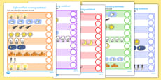 Light and Dark Counting Activity Sheet