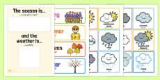 Weather And Season Day Calendar Arabic Translation