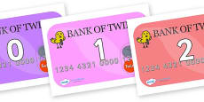 Numbers 0-50 on Debit Cards