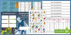 * NEW * Year 4 Superhero Themed Spelling Menu Pack