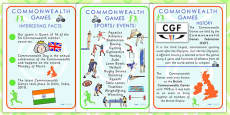 Commonwealth Games Information Posters