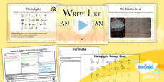 History: Ancient Egypt: Write Like an Egyptian LKS2 Lesson Pack 5