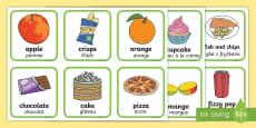 Cartes à trier : Les aliments sains et les aliments malsains - La santé