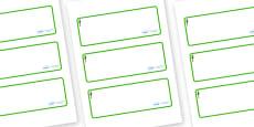 Redwood Themed Editable Drawer-Peg-Name Labels (Blank)