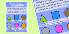 Polygons Poster (Large)