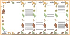 The Gruffalo Full Page Borders