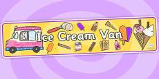 Ice Cream Van Role Play Banner