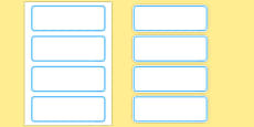 Editable Classroom Resource Labels (Blue)