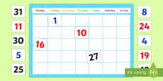 A2 Editable Calendar Display Pack