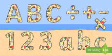 Seaside Display Lettering (Small)