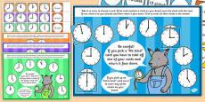 O'Clock Time Bingo and Lotto Game
