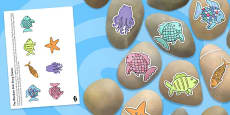 Story Stone Image Cut Outs to Support Teaching on The Rainbow Fish