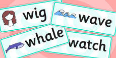 Initial w Sound Word Cards