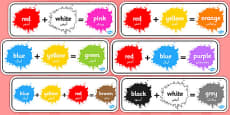 Colour Mixing Pack Arabic Translation