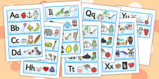 Alphabet Mnemonic Picture Cards