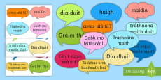 Social Greetings Prompt Cards Gaeilge