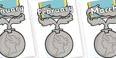 Months of the Year on Medals