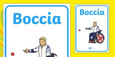 The Paralympics Boccia Display Posters