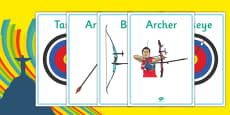 The Olympics Archery Display Posters