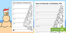 Christmas How to Decorate a Christmas Tree Writing Template