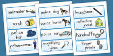 Australia - Police Word Cards