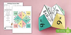 6 Times Table Fortune Teller