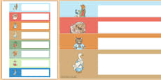 Beatrix Potter Themed Editable Gratnells Tray Labels