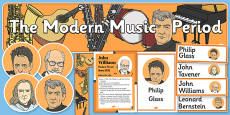 Modern Period Music Display Pack