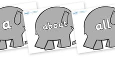 100 High Frequency Words on Elephants to Support Teaching on Elmer
