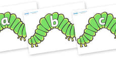 Phase 2 Phonemes on Hungry Caterpillars to Support Teaching on The Very Hungry Caterpillar