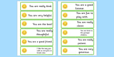 Giving Compliments Prompt Cards