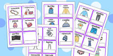 Clothes Editable Cards with English Polish