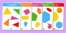 Regular and Irregular Shapes 2D Posters