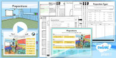 PlanIt Y3 SPaG Lesson Pack: Prepositions