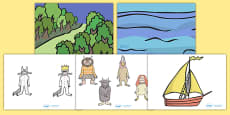 Story Cut Outs to Support Teaching on Where the Wild Things Are