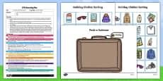 EYFS Pack a Suitcase Posting Busy Bag Plan and Resource Pack