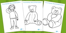 I've Lost My Teddy Where Is It Colouring Sheets