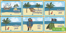 Pirate Positional Language Posters English/Polish