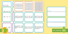 Tarjetas de multiplicar por y dividir entre 6 Juego