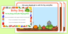 Playdough Activity Busy Bag Prompt Card and Resource Pack to Support Teaching on The Very Hungry Caterpillar