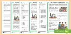 KS1 The Farmer and His Sons Differentiated Reading Comprehension Activity
