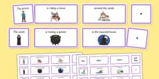 Fantasy Sentence Building Cards EAL