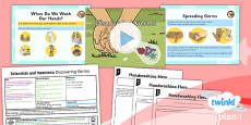 PlanIt - Science Year 2 - Scientists and Inventors Lesson 3: Discovering Germs Lesson Pack