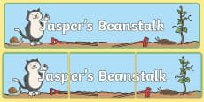 Display Banner to Support Teaching on Jasper's Beanstalk