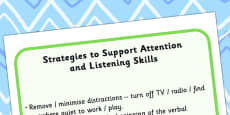 Strategies To Support Attention And Listening Skills