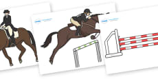 The Olympics Editable Images Equestrian