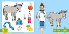 Marionetas de palo: A mi burro