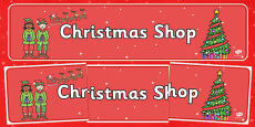 Christmas Shop Role Play Banner